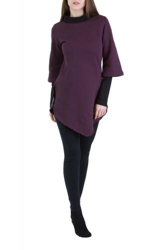 Kayley Pullover violett-schwarz