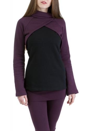 Mayla Pullover violett-schwarz