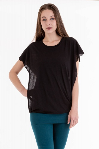 Capucha Shirt schwarz