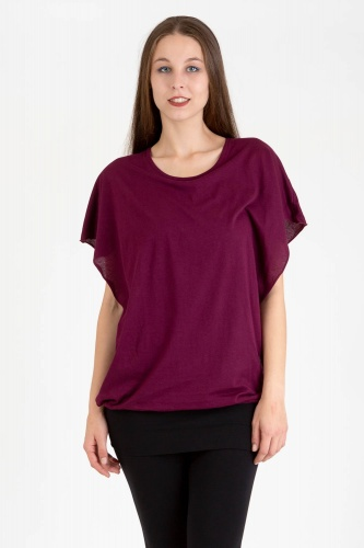 Capucha Shirt wine berry