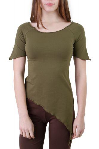 Walzit T-Shirt olive grün