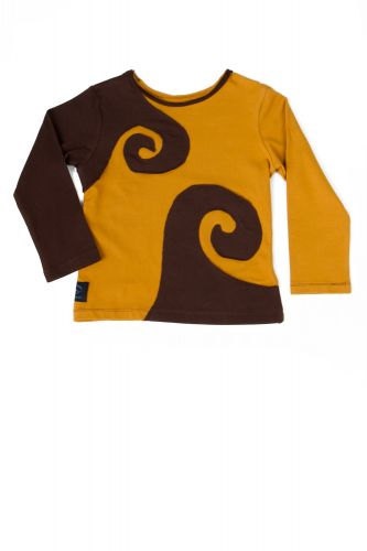 Spiraali shirt braun-amber
