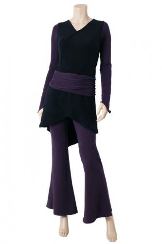 Silfo Kleid schwarz-violett
