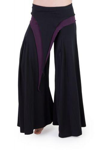 Pixie Hose schwarz-violett