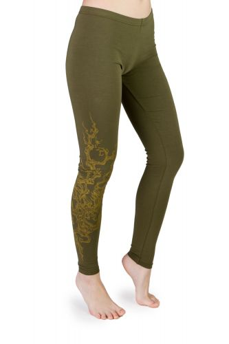 Juri Leggings Tree olive grün