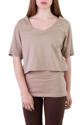 Fuchsia Shirt Set taupe