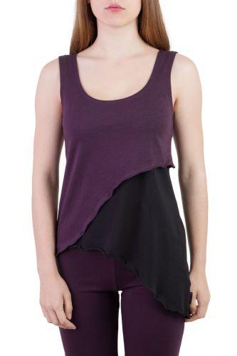 Eileen Top violett-schwarz