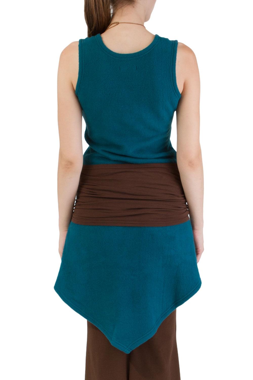 Kleid petrol braun