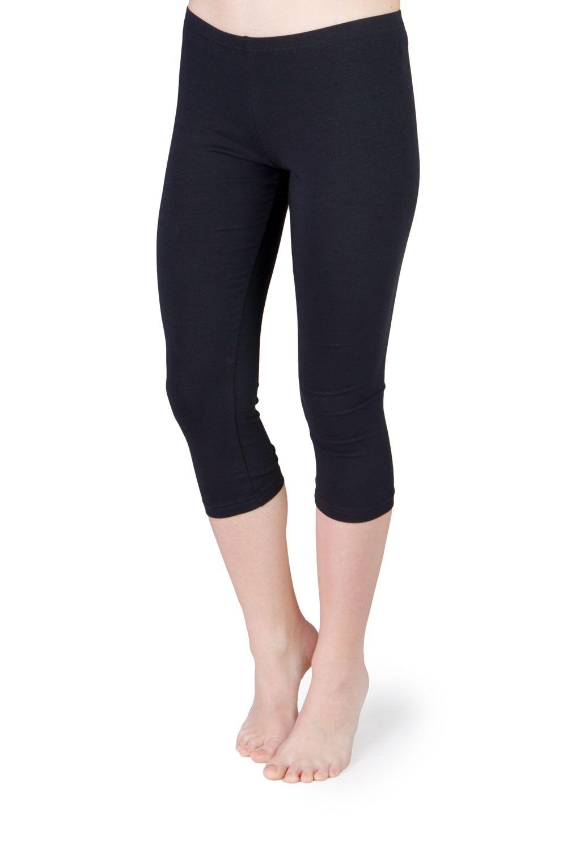 capri leggings in schwarz aus bio baumwoll jersey. Black Bedroom Furniture Sets. Home Design Ideas