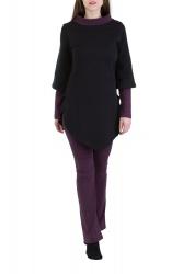 Kayley Pullover schwarz-violett