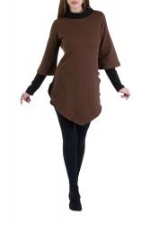 Kayley Pullover braun-schwarz