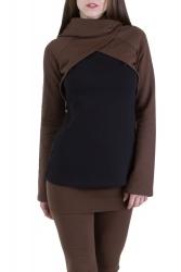 Mayla Pullover braun-schwarz