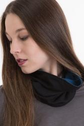 Bufanda Loop-Schal blau-schwarz