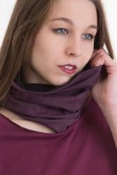 Bufanda Loop-Schal schwarz-violett