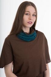 Bufanda Loop-Schal petrol-braun