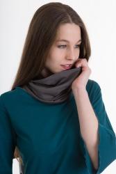 Bufanda Loop-Schal grau-schwarz