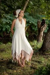 Kukka Kleid off white-beige