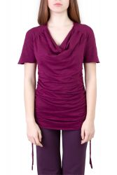 Camelia Shirt/Kleid wine berry