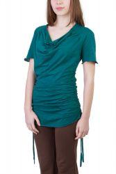 Camelia Shirt/Kleid petrol