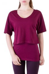 Fuchsia Shirt Set wine berry
