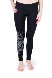Juri Leggings Tree schwarz