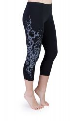 Iris Tree Capri Leggings schwarz
