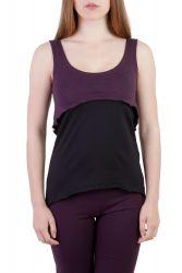 Dina Top violett-schwarz