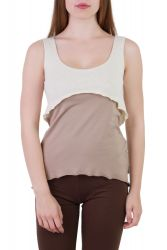 Dina Top off white-taupe