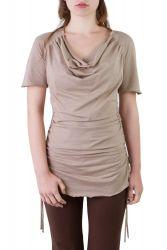 Camelia Shirt/Kleid taupe