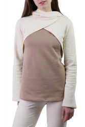 Mayla Pullover off white-taupe